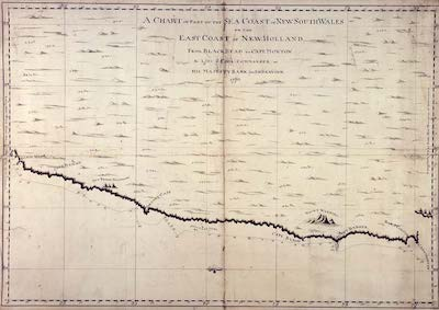 James Cook map for New South Wales