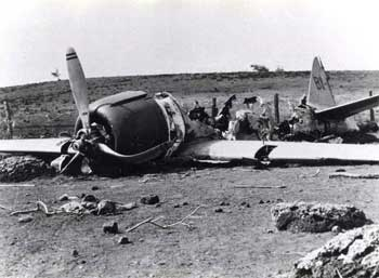 image of crashed plane